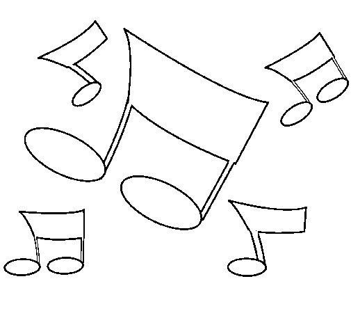 Disegno di Note musicali  da Colorare