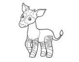 Disegno di Okapi da colorare