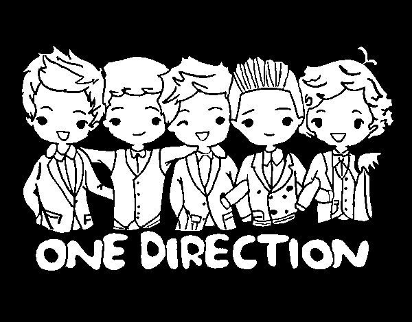 Disegno di One direction da Colorare