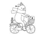 Disegno di Orso vettore da colorare
