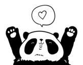 Dibujo de Panda amore