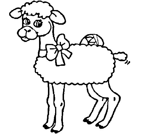 Disegno di Pecora  da Colorare