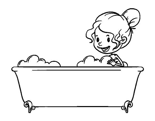 bagno Doccia disegno : Disegno di Per fare il bagno da Colorare - Acolore.com
