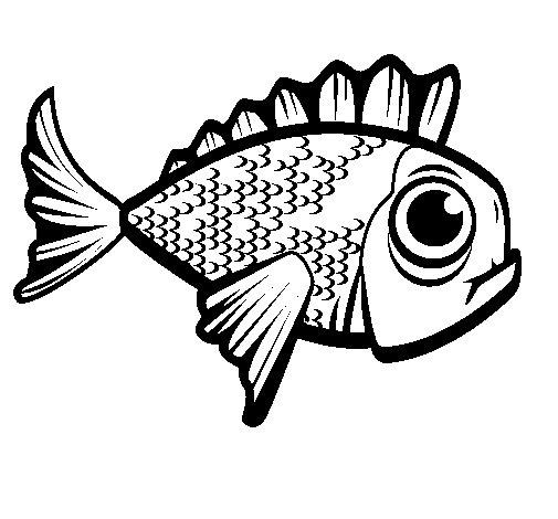 Disegno di pesce 2 da colorare for Pesce disegno da colorare