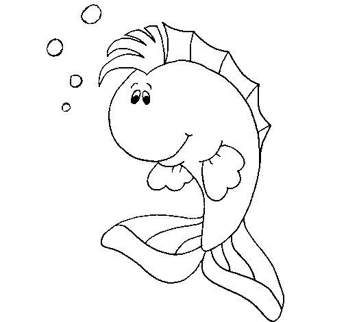 Disegno Di Pesce Punk Da Colorare