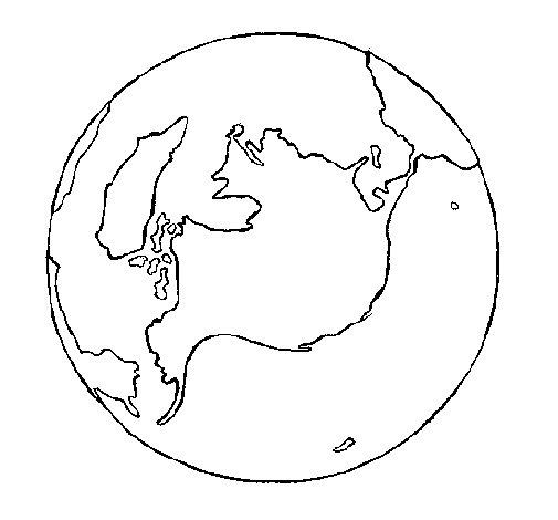 Disegno di Pianeta terra da Colorare