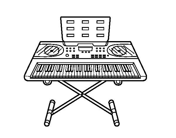 Disegno di piano sintetizzatore da colorare for Disegno di piano domestico