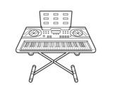 Disegno di Piano Sintetizzatore da colorare