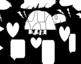 Disegno di Piccola Tartaruga da colorare