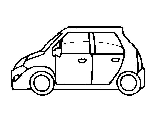 Disegno di piccole auto da colorare for Disegni staccati di 2 box auto