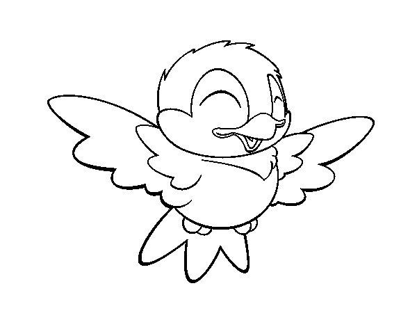 Disegno di piccolo uccello simpatico da colorare for Uccellino disegno