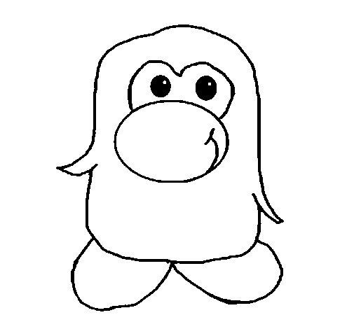 Disegno di pinguino 2 da colorare for Pinguino da colorare