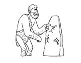 Disegno di Pitture rupestri uomo preistorico da colorare