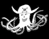 Disegno di Polipo dei pirati da colorare