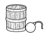 Dibujo de Polvere da sparo e pirata bomba