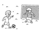 Disegno di Portiere da calcio da colorare