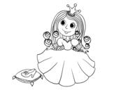 Dibujo de  Principessa e scarpetta di vetro