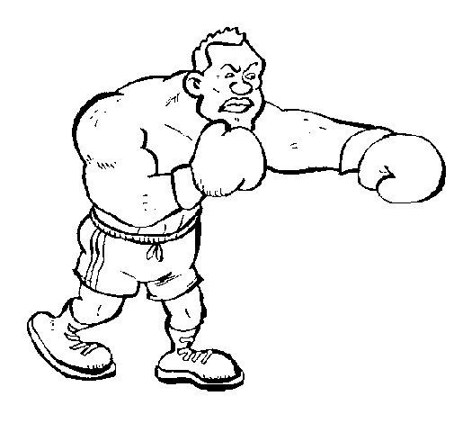 Disegno di pugile da colorare - Coloriage boxer ...
