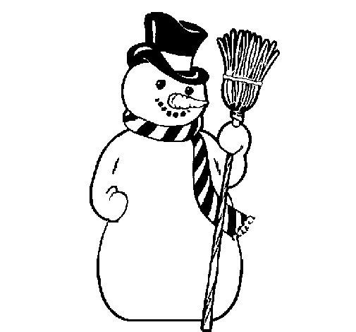 Disegno di pupazzo di neve da colorare - Pupazzo di neve pagine da colorare ...