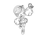 Disegno di Ragazza Cheerleader da colorare