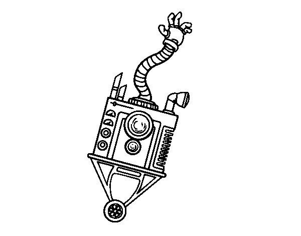 Disegno di Robot mano da Colorare