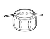 Disegno di Rullante strumento da colorare