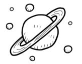 Dibujo de Satelliti naturali di Saturno