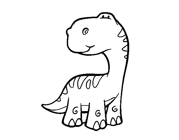 Disegno di Sauropodo da Colorare