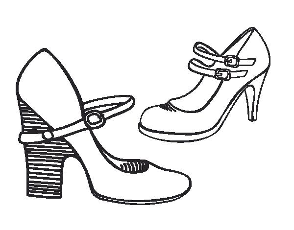 Scarpe Tacco Disegno