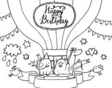 Disegno di Scheda di buon compleanno da colorare