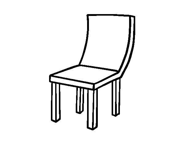 Disegno di sedia curva da colorare - Sedia a dondolo disegno ...