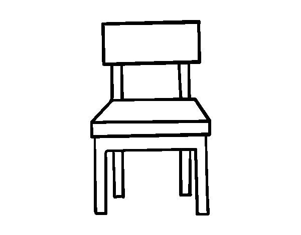 Disegno di sedia da pranzo da colorare - Sedia a dondolo disegno ...