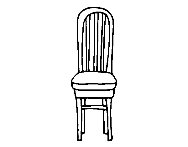 Disegno di sedia in legno da colorare - Sedia a dondolo disegno ...