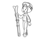 Disegno di Ski da colorare