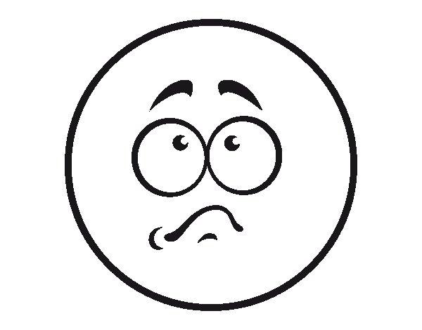 Disegno Di Smiley Imbarazzato Da Colorare