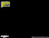 Disegno di SpongeBob - Plankto-Man per l'attacco da colorare