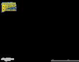 Disegno di SpongeBob - Stonatore correndo da colorare