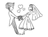 Disegno di Sposato e in amore da colorare