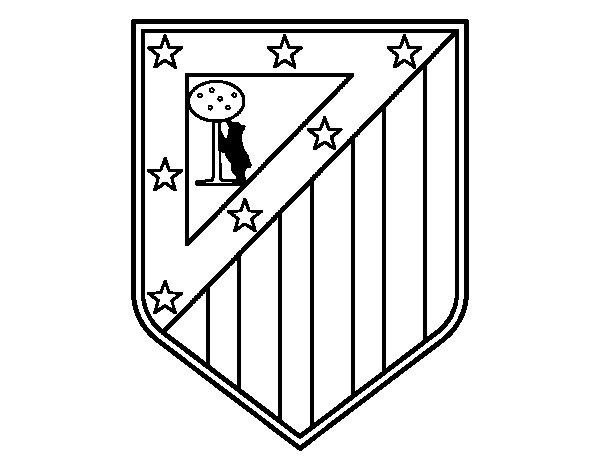 Disegno di stemma del club atl tico de madrid da colorare for Disegni della roma da colorare