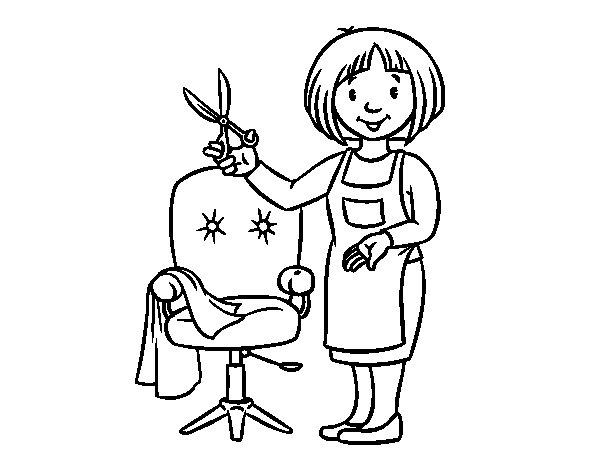 Disegno di Stilista parruchiera da Colorare