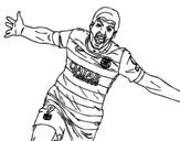 Disegno di Suárez celebrare un gol da colorare