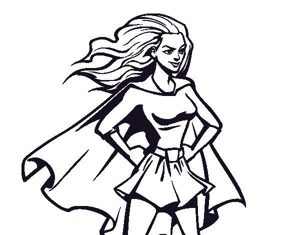 Dibujos De La Mujer Maravilla Para Colorear E Imprimir: Disegno Di Super Girl Da Colorare
