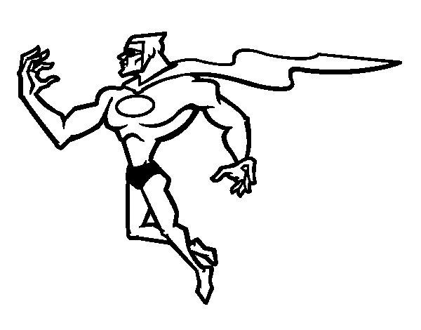 Disegno di supereroi potente da colorare for Disegni da colorare supereroi