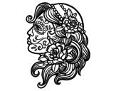 Dibujo de Tatuaggio di Catrina