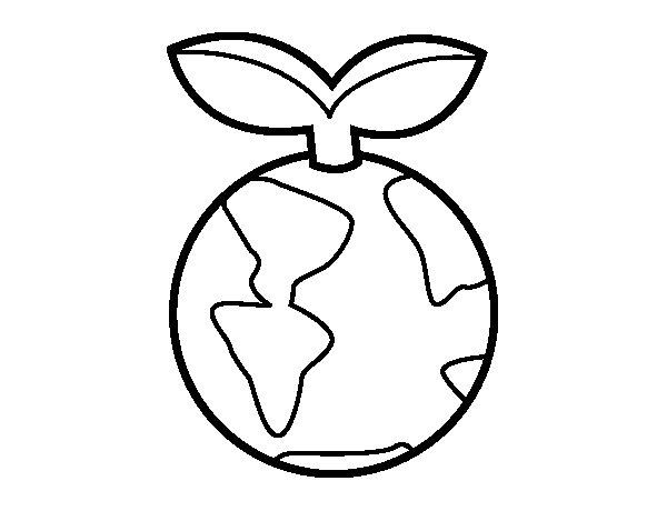 Disegno di Terra pulito da Colorare - Acolore.com