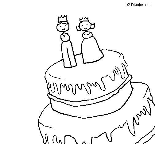 Disegno Di Torta Nuziale Da Stampare