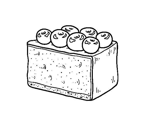 Disegno di Torta di mirtilli da Colorare