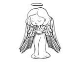 Disegno di Un angelo che prega da colorare