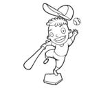 Dibujo de Un battitore di baseball