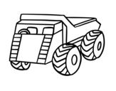 Disegno di Un furgoncino da carico da colorare